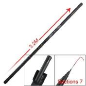 Como Tiger Print Handle Telescopic 7 Sections 3.2M Fishing Pole Rod