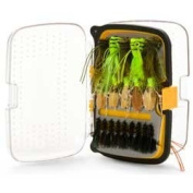 SCIENTIFIC ANGLERS - Waterproof Fly Boxes, Classic 176 Angled Fly Box - Medium - Yellow