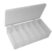 Pico 0018A 10-1.3cm x 17.8cm Empty 6 Compartment Flex Plastic Kit Box
