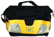 Calcutta Black and Yellow Wide Mouth Tackle Bag with 2 Each 370 Trays
