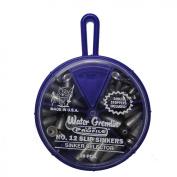 Water Gremlin Low Profile Slip-Sinker Selector, 8ea/1,7ea/2, 6ea/3, 4ea/4 24ea/Sinker Stoppers