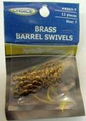 Tournament Choice Size 7 Brass Barrel Swivels - 12 pack