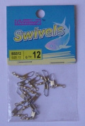 72 Pcs of Brass Barrel Swivel with Safety Snap #12