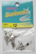 72 Pcs of Nickel Barrel Swivel with Safety Snap #10