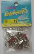 72 Pcs of Nickel Barrel Swivel with Interlock Snap #1
