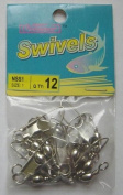 72 Pcs of Nickel Barrel Swivel with Safety Snap #1