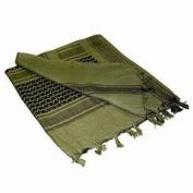 Ultimate Arms Gear Tactical Scarf - Shemagh - Kafiya - Keffiyeh Head Wrap : OD Olive Drab Green / Black 100% Cotton