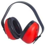 Radians DF0310HC Defender Hearing Protector Earmuff Red, 1 Each