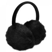 Como Lady Woman Headband Black Faux Fur Winter Ear Cover Earmuffs