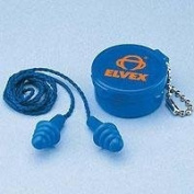 Elvex EP412, Quattro Reuseable Ear Plugs with Cord, 25 dB NRR.