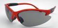 Contender Safety Glasses, Smoke Lens, Orange Frame, Shatterproof Polycarbonate Lenses, Meets Ansi Z87.1-2003 Standards