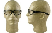 Smith & Wesson 38 Special Safety Glasses, Black Frame, Clear Lens