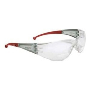 Elvex RX-400 Bifocal Safety Reading Glass, +1.5 Diopter Strength, Grey Lens