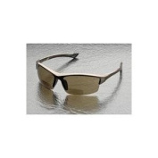 Elvex RX-350BR Sonoma Brown Polycarbonate BiFocal Safety / Fashion Glasses with +1.0 Diopters, Brown Frame