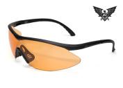 Edge Tactical Eyewear XFL610 Matte Black with Tiger's Eye Lens