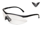 Edge Tactical Eyewear XFL611 Matte Black with Clear Lens