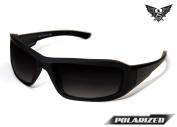 Edge Tactical Eyewear TXHG716 Hamel Matte Black with Polarised Gradient Smoke Lens