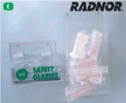 Radnor Clear Acrylic Tray Style Safety Glasses Dispenser With Lid