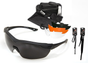 Edge Tactical Eyewear HO611 Overlord Kit with 4 Lens Sets with Polarised Smoke, Clear