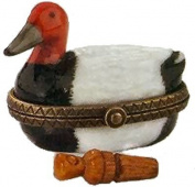 "Porcelain Hinged Box (PHB) - ""Duck Decoy with Duck Call"" by Midwest"