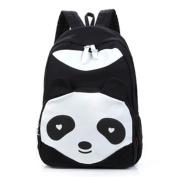 Black Backpacks with Panda Design
