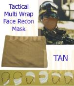 Tactical Multi Wrap Recon Face Mask Bandana Scarf Tan