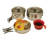 Texsport Stainless Steel Backpackers Cook Set