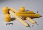 Beeswax Candles- Votive Style 1-1.3cm x 1-1.3cm , Set of 3
