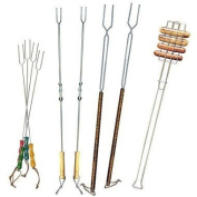 Rome's Set of 9 Forks for Marshmallows and Hot Dogs, Chrome Plated Steel