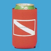 Red Neoprene Can Coolers with Dive Flag