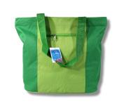 Waterproof Green Canvas Bag Zipper Closure 17 x 35.6cm x 12.7cm