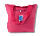 Waterproof Hot Pink Canvas Bag Zipper Closure 17 x 35.6cm x 12.7cm