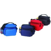 Blue - Economy Beach Picnic Cooler with bottle holder and small pouch