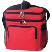 RED - Deluxe Poly Outdoor Sport Cooler with Lunch Bag