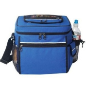 Blue - 24-pack Camping Cooler with Easy Access pocket