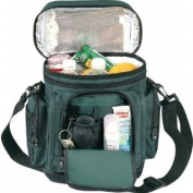 FOREST GREEN - Deluxe Leakproof Cooler w/ Leather-like Bottom