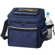 Navy - 24-pack Camping Cooler with Easy Access pocket