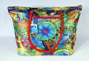 Large Star Wheel Tropical Fish Flower Beach Bag 21.5 x 40.6cm x 17.8cm