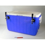 Double Faucet Jockey Box Cooler - Stainless Steel Coils