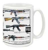 Cuppa Second Amendment Rights 440ml Coffee Mug with AK-47's