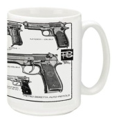 Cuppa Second Amendment Rights 440ml Coffee Mug with Berettas