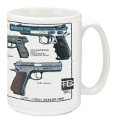 Cuppa Second Amendment Rights 440ml Coffee Mug with CZ75's