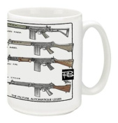 Cuppa Second Amendment Rights 440ml Coffee Mug with FAL's