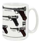 Cuppa Second Amendment Rights 440ml Coffee Mug with Lugers