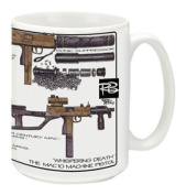 Cuppa Second Amendment Rights 440ml Coffee Mug with MAC 10's