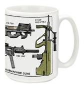Cuppa Second Amendment Rights 440ml Coffee Mug with Modern SMG's