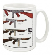 Cuppa Second Amendment Rights 440ml Coffee Mug with Thompson SMG's