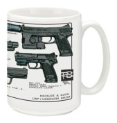 Cuppa Second Amendment Rights 440ml Coffee Mug with USP/MK23's