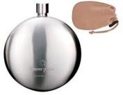 Titanium Round Flask by Snow Peak, Curved