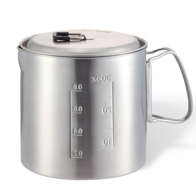 Solo Pot 900 Stainless Backpacking Camp Pot: Cookware for Solo Stove and Other Backpacking & Camp Stoves